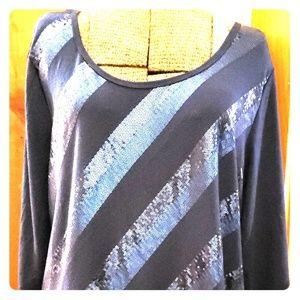 Blue Sequin Tunic